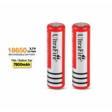 UltraFire 18650 3.7V 3000mAh Rechargeable Lithium Batteries Without...