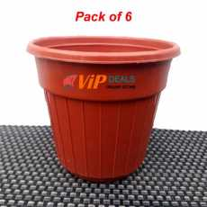 Pack of 6 - Plastic Pots for Cactus Flower Plants 6.25 x 7.5 inches Planters...