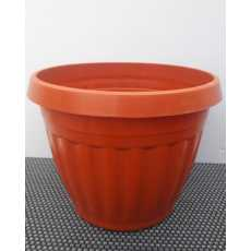 Pack of 6 - Nursery Plastic Flower Plant Pots H9 x D10 inches - G120 - Brown
