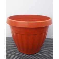 6/Pcs - Nursery Plastic Flower Plant Pots 5x7 inches G-149 - Brown