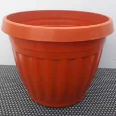 Pack of 6 - Nursery Plastic Flower Plant Pots 7.5 x 10 inches - G18 - Brown