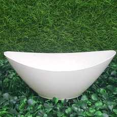 Pack of 6 - Beautiful Small Plastic Oval Shape Pots for Cactus and Artificial...