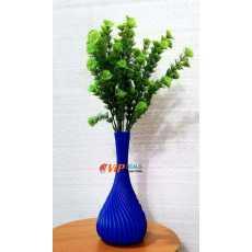 Beautiful Self Decoration Flower Pot Plastic Gamla (Without Flowers) - Blue