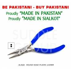 """Round Nose Smooth Jaws Pliers 5"""" 130mm Stainless Steel Jewelry Making Repair..."""