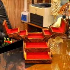 Wooden Carving Jewellery Box Tralli Singhar