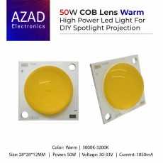 50W COB Lens LED High Power Led For DIY Spotlight Projection Light Warm