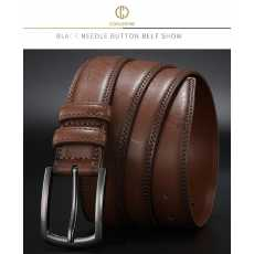 Genuine Leather Belts For Men's New Fashion Classic Buckle Cow Leather Belt...