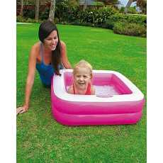 INTEX Baby Pool Play Box - Pink & White - 57100NP