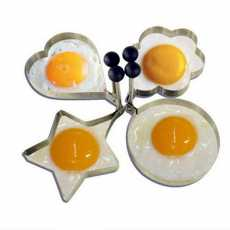 4Pcs Shape Fried Egg Mold Ring Tools, Stainless Steel Cooking Tools for...