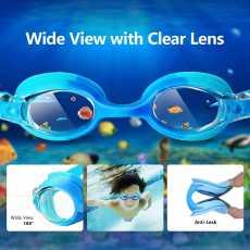 Swim Goggles, Leak Proof Kids Swimming Goggles. Flexible Nose Bridge, Fit...