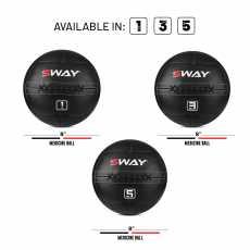 SWAY MEDICINE BALL 3KG, SLAM BALL BLUE BLACK, WALL BALL, MEDICINE BALLS, CORE...