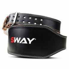 SWAY WEIGHTLIFTING LEATHER BELT S/M, Weightlifting Workout, Fitness...