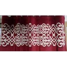 Laser work valvet curtain mahroon