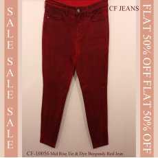 Tie & Dye Burgundy Red Slimfit CF-10056