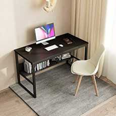 Study table with open book shelf