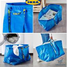 IKEA FRAKTA Washable Shopping CarrierFoldable Shopping Bag  Storage Bag...