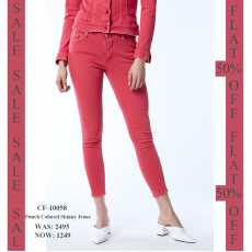 Punch colored skinny jeans CF-10058