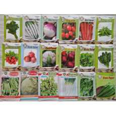 Pack 15 of winter vegetable seeds with free 50 gram germination soil.