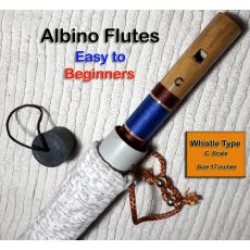 Albino Whistle Type C scale Natural Medium Bamboo Bansuri/ Flute Easy for...