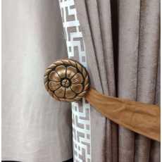 Curtain tieback wooden