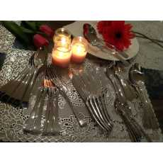 Food grade Stainless Steel Cutlery Set 34 pcs ,6 Serving Mirror polished New...