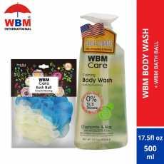 WBM Body Wash Chamomile and Aloe (500 ml) with WBM Bath Ball