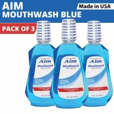Aim Mouthwash (3 Pack) Extremely Refreshing Flavor- 473 ML - Best Mouthwash