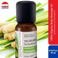 Natural Solution Organic Massage Oil (Lemongrass) - 10 ml - Natural Massage...