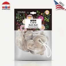WBM Care Soft and Gentle Bath Ball & Shower Sponge Bath Ball Loofah - Golden