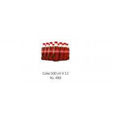 Coke 500ml X 12
