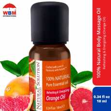 Natural Solution 100% Pure and Natural Massage Oil (Blood Orange) - 10 ml -...