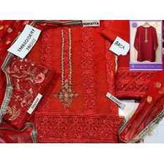 Beautiful  embroidery work bariq work on dress high quality work on organza...