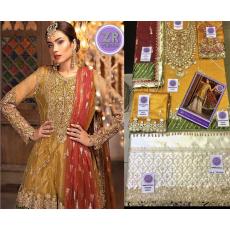 WEDDING COLLECTION Net Shirt satin Silk Trouser Maria Bridal Collection's