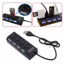 USB Hub 4 Port 2.0 With Power On/Off Button & LED Indicator High Quality Usb...