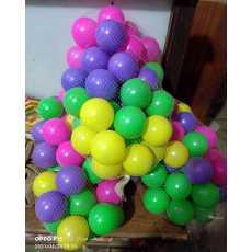 50 Soft pcs Medium Size Premium Balls Color Balls for Kids Pool Balls Set of...