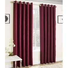Curtain silky fabric pack of 2 panels