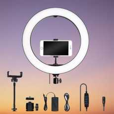 36cm Professional Studio Ring Light Lamp Fill With Mobile Holder and 7 ft...