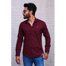 MAROON ALL OVER PRINTED PREMIUM CASUAL SHIRT