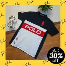 RL-67 Black Classic Kids Polo Shirt