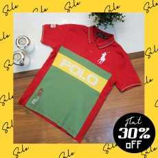 RL-67 Red Classic Kids Polo Shirt