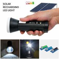 LED Solar Rechargeable Flashlights-Torch Light Long Range