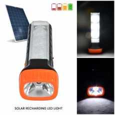 Torch Light Long Range- LED Solar Rechargeable Flashlights for Load Shedding