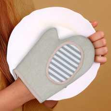 2 Pcs Scrub Gloves for Cleaning- Multipurpose Reusable Scrub Gloves for Body-...