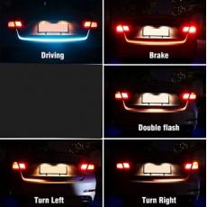 Car Rear Trunk Tail LED Strip Lighting Light Dynamic Streamer Warning Light...