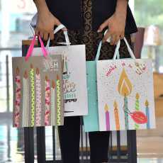 Happy Birthday Paper Gift Bags- Bundle of 4 Gift Wrapping Bags