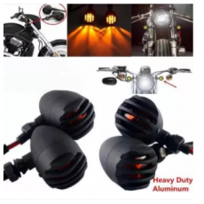 Grill Indicators ABS Plastic Material Yellow Light For Bikes 2 pcs