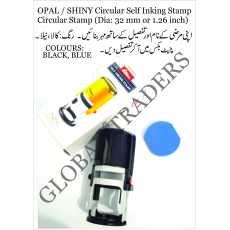 SHINY Customized Circular Self Inking Stamp Circular Stamp
