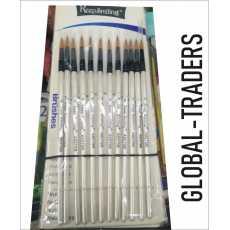 12 Pieces Professional Fine Pen Tip Paint Brush Set Nylon Hair Artist Acrylic...