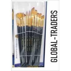 Artist Paint Brush:-12pcs Multi shapes Artist Paint Brush Set Watercolor...