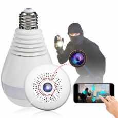 bulb camera/cctv security system/ip camera/1080 Full HD Invisible light night...